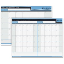 "Quartet 30/60 Day Laminated Planner - 23"" x 30"" - Bilingual"