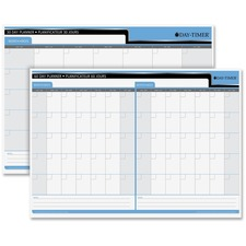 "Quartet 30/60 Day Laminated Planner - 17"" x 24"" - Bilingual"