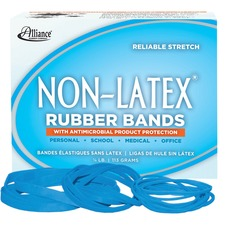 ALL 42549 Alliance Cyan Non-Ltx Antimicrobial Rubber Bands ALL42549