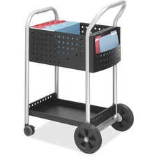 SAF 5238BL Safco Side Pocket Scoot Mail Cart SAF5238BL