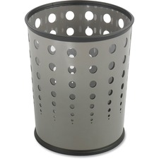 SAF 9740GR Safco Steel Bubble Wastebaskets SAF9740GR