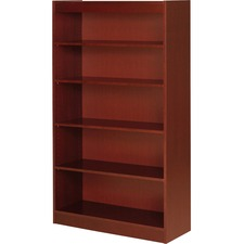 LLR 89053 Lorell Panel End Cherry Hardwood Veneer Bookcases LLR89053