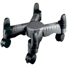 """DAC Scissors-style Mobile CPU Tower Stand - 10"""" (254 mm) Width - Black"""