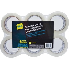 "Conros Seal-It General Use Packaging Tape - 2"" (50.8 mm) Width x 109.4 yd (100 m) Length - Tear Resistant - 6 / Pack - Clear"