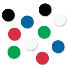 "Quartet Ceramic Magnet - 0.50"" (12.70 mm) Diameter - Round - 20 / Pack - Black, Red, Blue, Green, White"