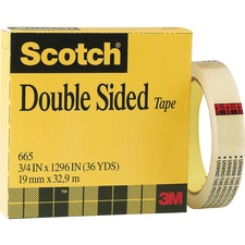 MMM 6652P1236 3M Scotch Permanent Double Sided Tape MMM6652P1236