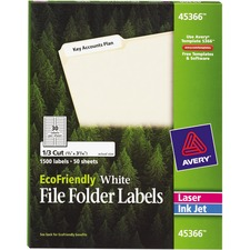 AVE45366 - Avery&reg EcoFriendly Permanent File Folder Labels
