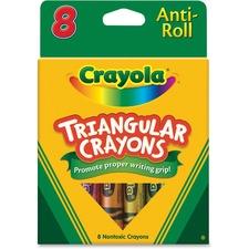 CYO 524008 Crayola Triangular Anti-roll Crayons CYO524008