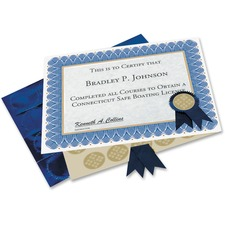 GEO 47404 Geographics Custom Print Award Certificates Kit GEO47404