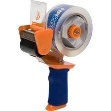 "Duck Brand Brand Bladesafe Antimicrobial Tape Gun with Tape - Holds Total 1 Tape(s) - 3"" Core - Adjustable Tension Mechanism, Soft Grip, Retractable Blade - Plastic, Metal - Orange - 1 Pack"
