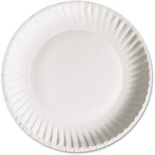 AJM PP9GRA AJM Packaging Green Label Economical Paper Plates AJMPP9GRA