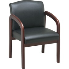 LLR 60470 Lorell Deluxe Faux Leather Guest Chairs LLR60470