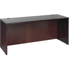 LLR 87811 Lorell Mahogany Hardwood Veneer Desk Collection LLR87811
