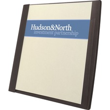 """GBC Frosted Report Covers with Pocket - Letter - 8.5\"""" x 11\"""" - 30 Sheet - 5 / Pack - Black"""