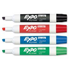 SAN80174 - Expo Low-Odor Dry Erase Chisel Tip Markers