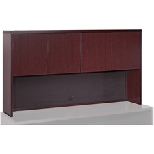 LLR 87813 Lorell Mahogany Hardwood Veneer Desk Collection LLR87813