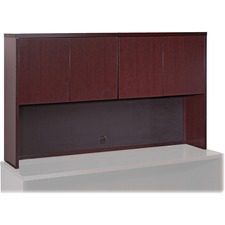 LLR 87814 Lorell Mahogany Hardwood Veneer Desk Collection LLR87814