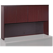 LLR 87815 Lorell Mahogany Hardwood Veneer Desk Collection LLR87815