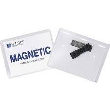 C-Line Laser/Inkjet Magnetic Name Badge Holder Kit - 20 / Box