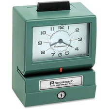 ACP 011070411 Acroprint Manual Print Time Recorders ACP011070411