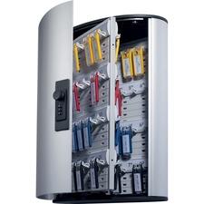 "DURABLE Key Box Code Cabinet - 11.1"" x 4.8"" x 15.8"" - Security Lock - Silver - Aluminum"