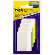 "MMM 686F1BB 3M Post-it Durable Color Bar Flat File 2"" Tabs MMM686F1BB"