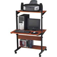 MLN 8432SOMECBLK Mayline Soho Adjustable Computer Workstations MLN8432SOMECBLK