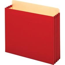 GLW FC1524ERED Globe-Weis Heavy-duty File Cabinet Pocket GLWFC1524ERED