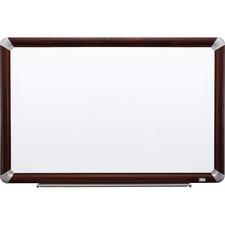 MMM P7248FMY 3M Prem.Porcelain Mahogany Frame Dry-erase Boards MMMP7248FMY