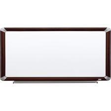 MMM P9648FMY 3M Prem.Porcelain Mahogany Frame Dry-erase Boards MMMP9648FMY