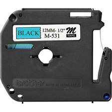 BRT M531 Brother P-touch Nonlaminated M Srs Tape Cartridge BRTM531