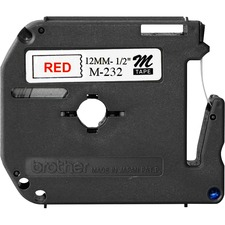 BRT MK232 Brother P-touch Nonlaminated M Srs Tape Cartridge BRTMK232