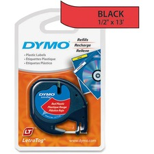 "Dymo LetraTag 91333 Polyester Tape - 1/2"" Width - Direct Thermal - Red - Polyester - 1 Each"