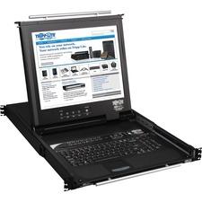 """Tripp Lite 16-Port Rack Console KVM Switch built in IP w/ 17"""" LCD 1U TAA GSA"""