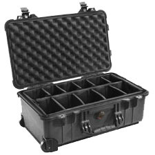 1510 Carry-On Hard Case Black Padded Dividers 19x75x11x7.6 / Mfr. No.: 1510-004-110