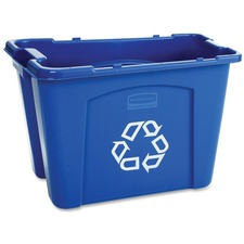 RCP 571473BE Rubbermaid Comm. 14-gallon Recycling Box RCP571473BE
