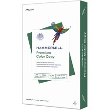 "Hammermill Paper for Color 8.5x14 Laser, Inkjet Copy & Multipurpose Paper - White - Recycled - 30% - 100 Brightness - Legal - 8 1/2"" x 14"" - 28 lb Basis Weight - Ultra Smooth - FSC"