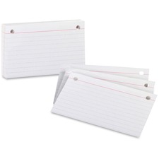 OXF 07351 Oxford 2 Hole Punched Index Cards OXF07351