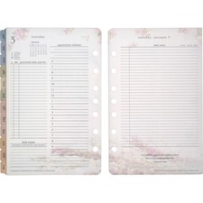 FDP 35438 Franklin Blooms Daily 2PPD Planner Refills FDP35438