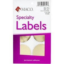 MAC OS721 Maco Gold Notarial Seal Specialty Labels  MACOS721
