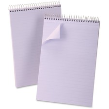 """Ampad Steno Notebook - 80 Sheet - 15lb - Ruled - 6\"""" x 9\"""" - 1 Each - Orchid Media"""