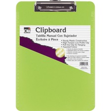 CLI Rubber Grip Plastic Clipboards