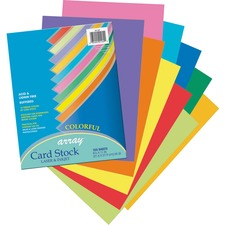 PAC 101169 Pacon Heavyweight Assorted Colors Card Stock PAC101169