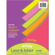 PAC 101155 Pacon Array Assorted Bright Hyper Bond Paper PAC101155