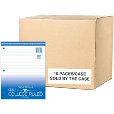 "Roaring Spring Filler Paper Sheets - 500 Sheet - 15lb - College Ruled - 8.5\"" x 11\"" - 500 / Pack - White Media"