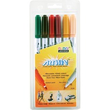 UCH 13146C Uchida Artwin Assorted Colors Double-ended Markers UCH13146C