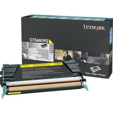 LEXC734A1YG - Lexmark Toner Cartridge
