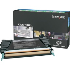 LEXC736H1KG - Lexmark Original Toner Cartridge