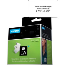DYM 30856 Dymo Non-Adhesive LabelWriter Name Badge Labels DYM30856