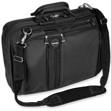 "Kensington Sky Runner Carrying Case Notebook - Black - Ballistic Nylon - Handle, Shoulder Strap - 12"" (304.80 mm) Height x 6.50"" (165.10 mm) Width x 16.50"" (419.10 mm) Depth"